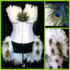 Custom Sexy White Peacock Women's Halloween Costume, Adult Size: L