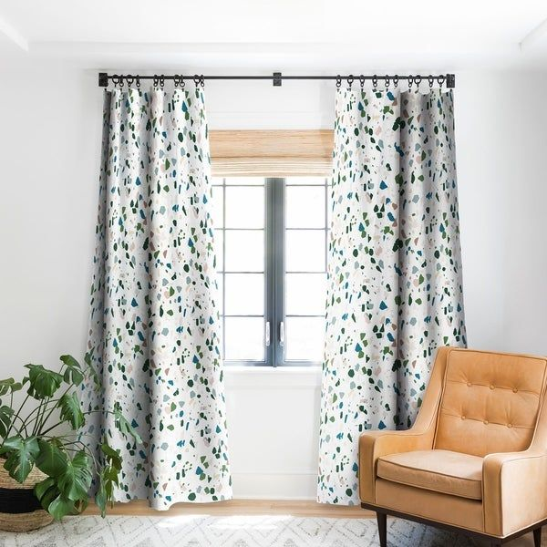 Holli Zollinger Terrazzo Blackout Curtain Panel Cool Curtains