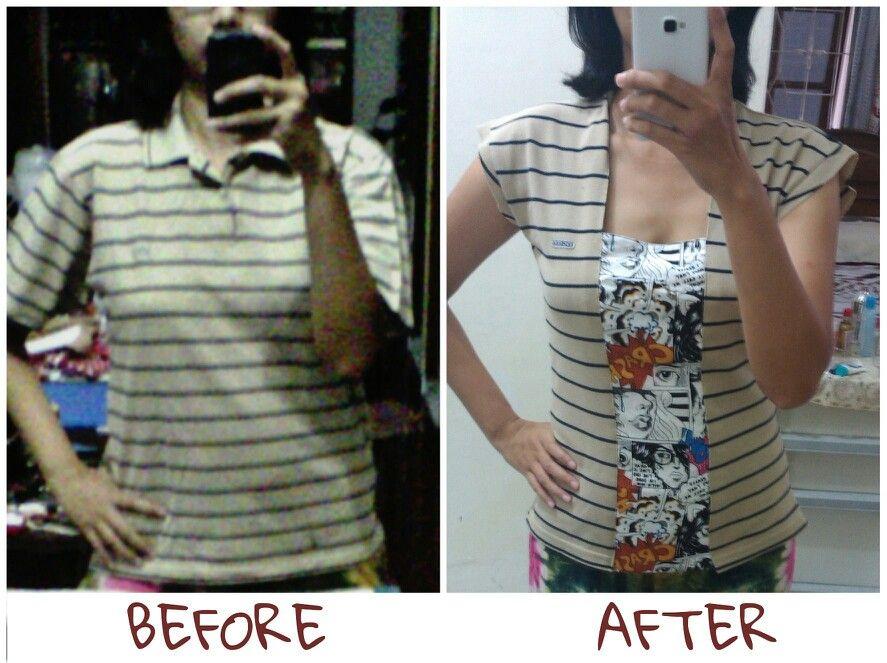 Refashion polo shirt | upcycle by mamamiastory | refashion ...