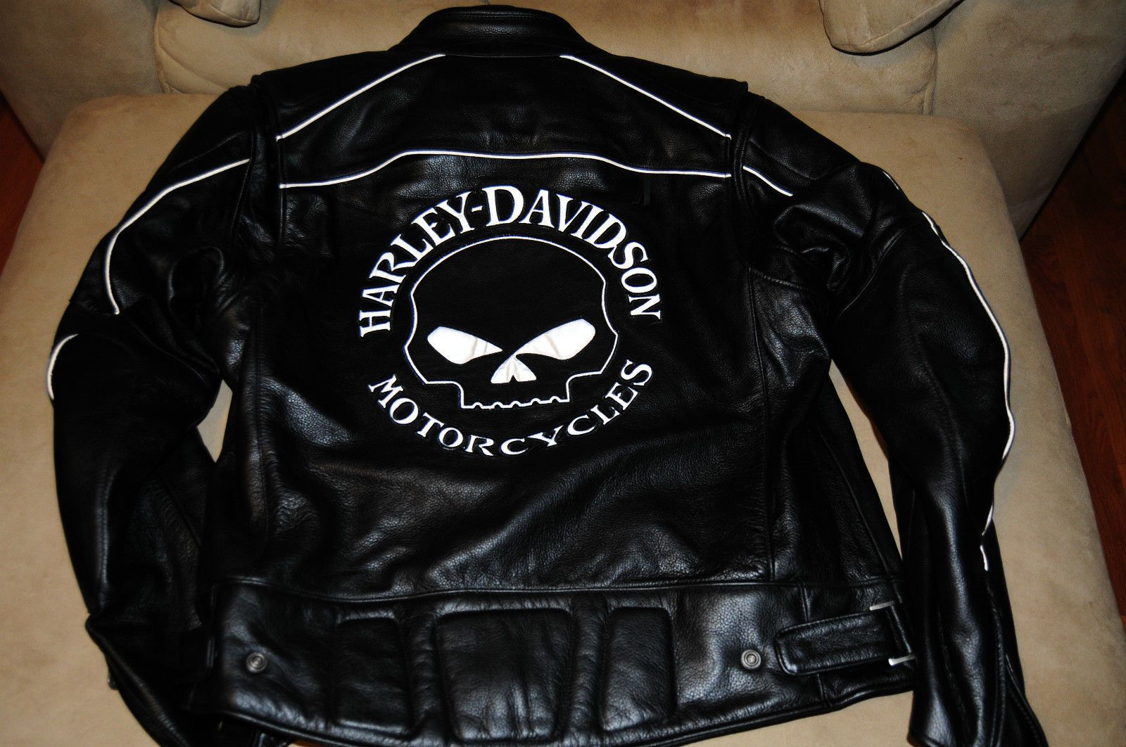 Harley Davidson, Willie G Reflective Skull Leather Jacket