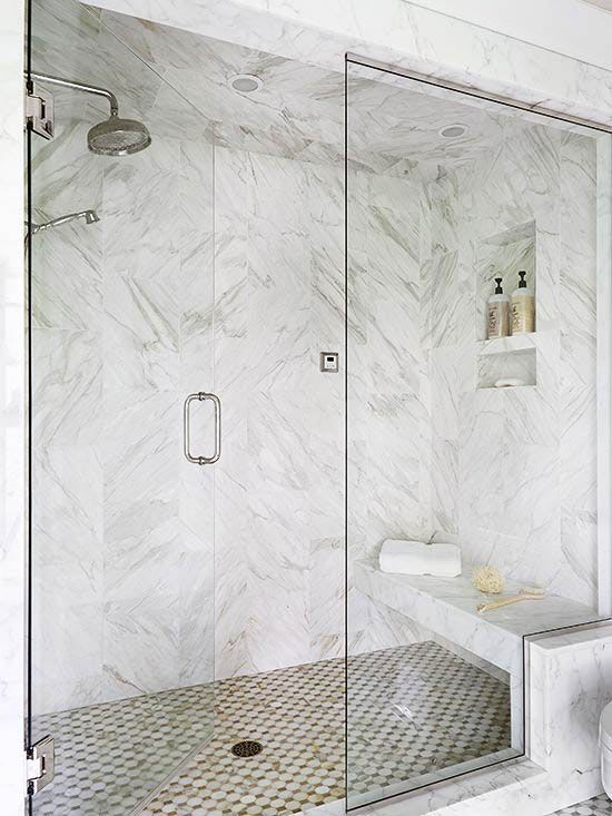 2 Person Shower Floor To Ceiling Shower Doors House Beautiful