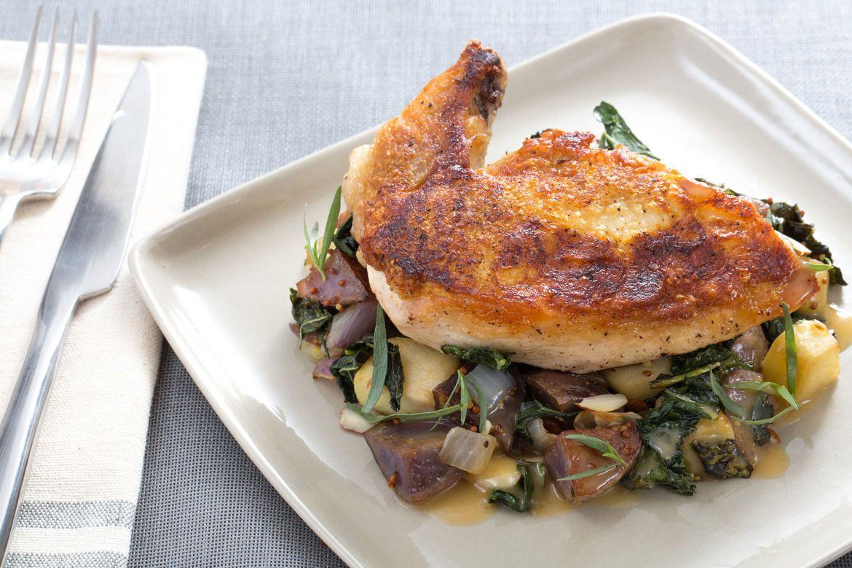Blue apron kale - Recipe Pan Roasted Chicken With Lacinato Kale Purple Potato Hash Blue Apron