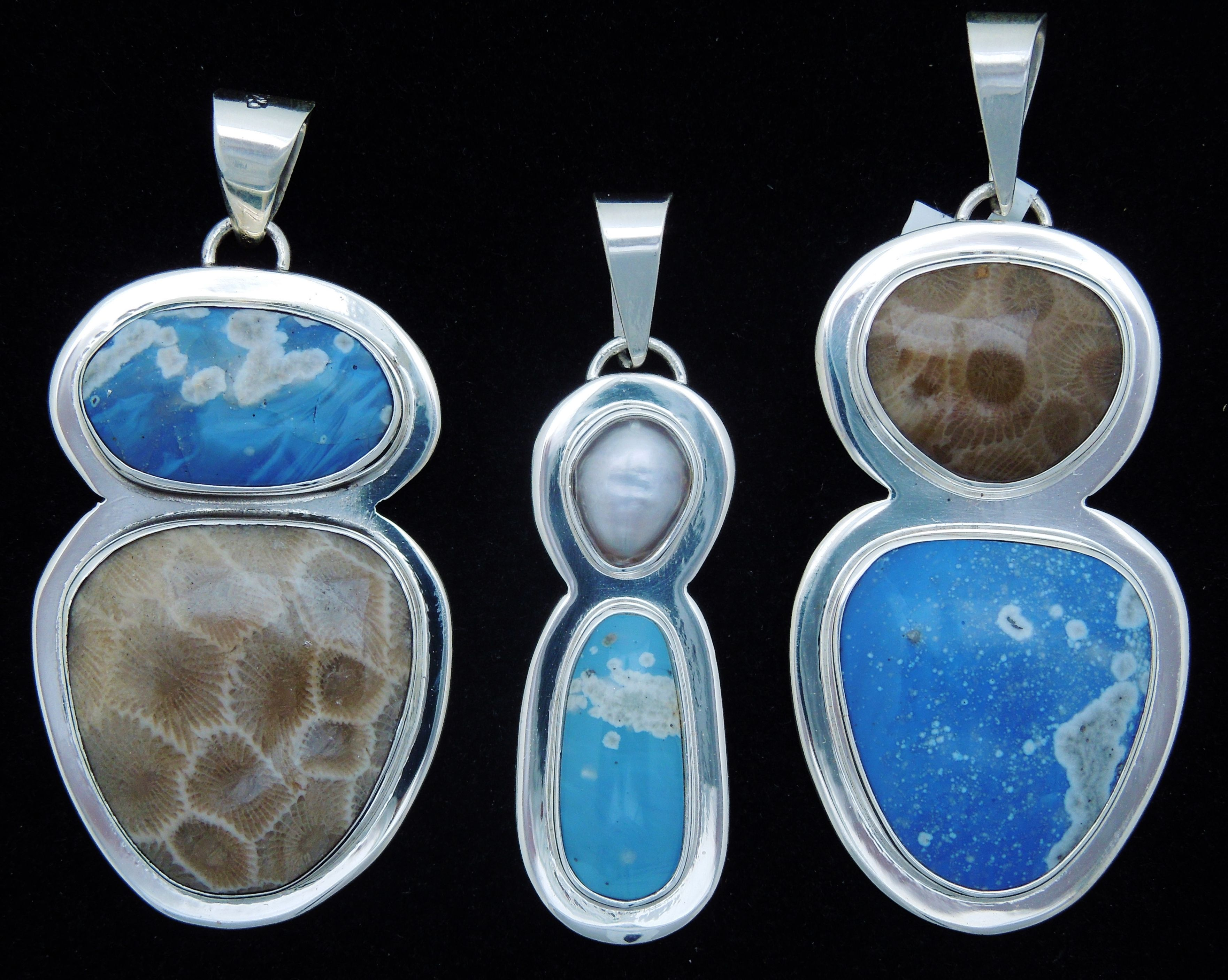 Leland Blue Amp Michigan Stone Silver Jewelry On Pinterest