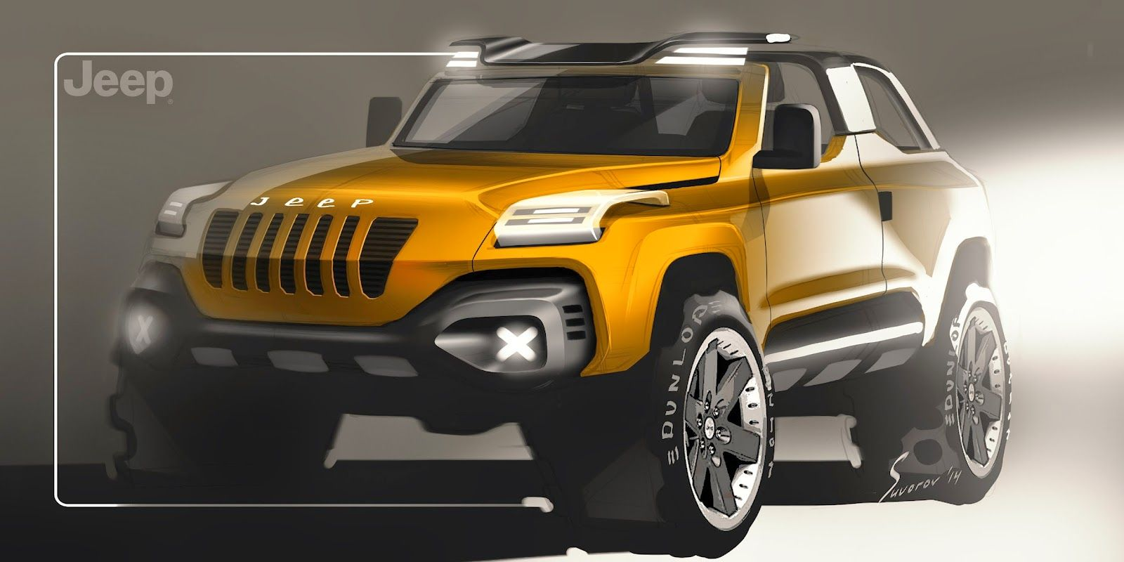 Jeep Concept Design Sketch By Aleksander Suvorov Jeep Concept