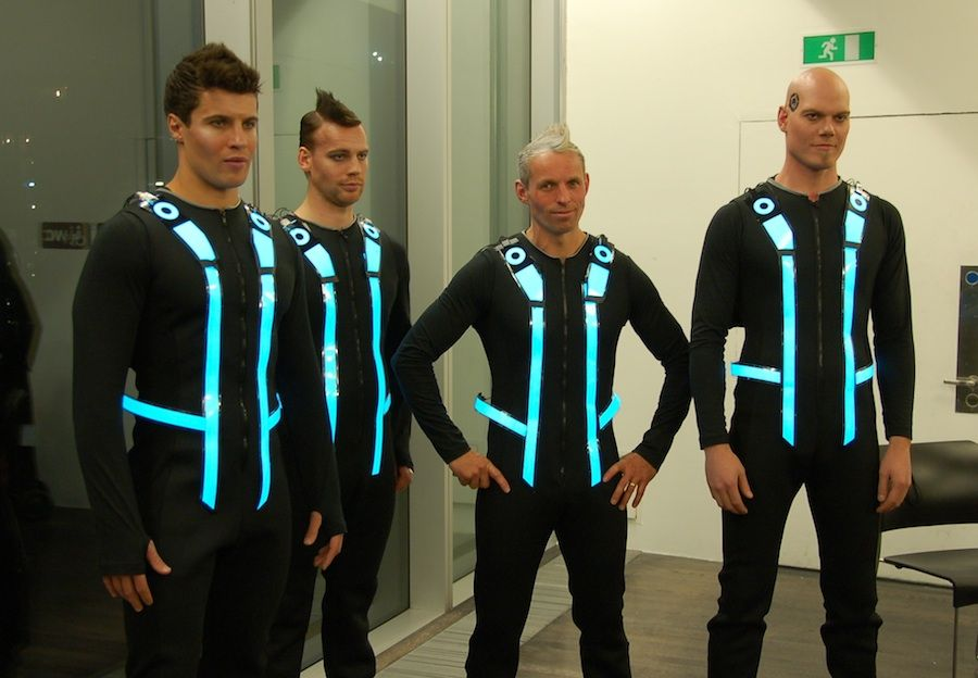 Tron guys at tate gallery premier after party httplighttape light tape thinner than a credit card extremely versatile flexible durable perfect for accent lighting display strips el panel backlighting aloadofball Image collections