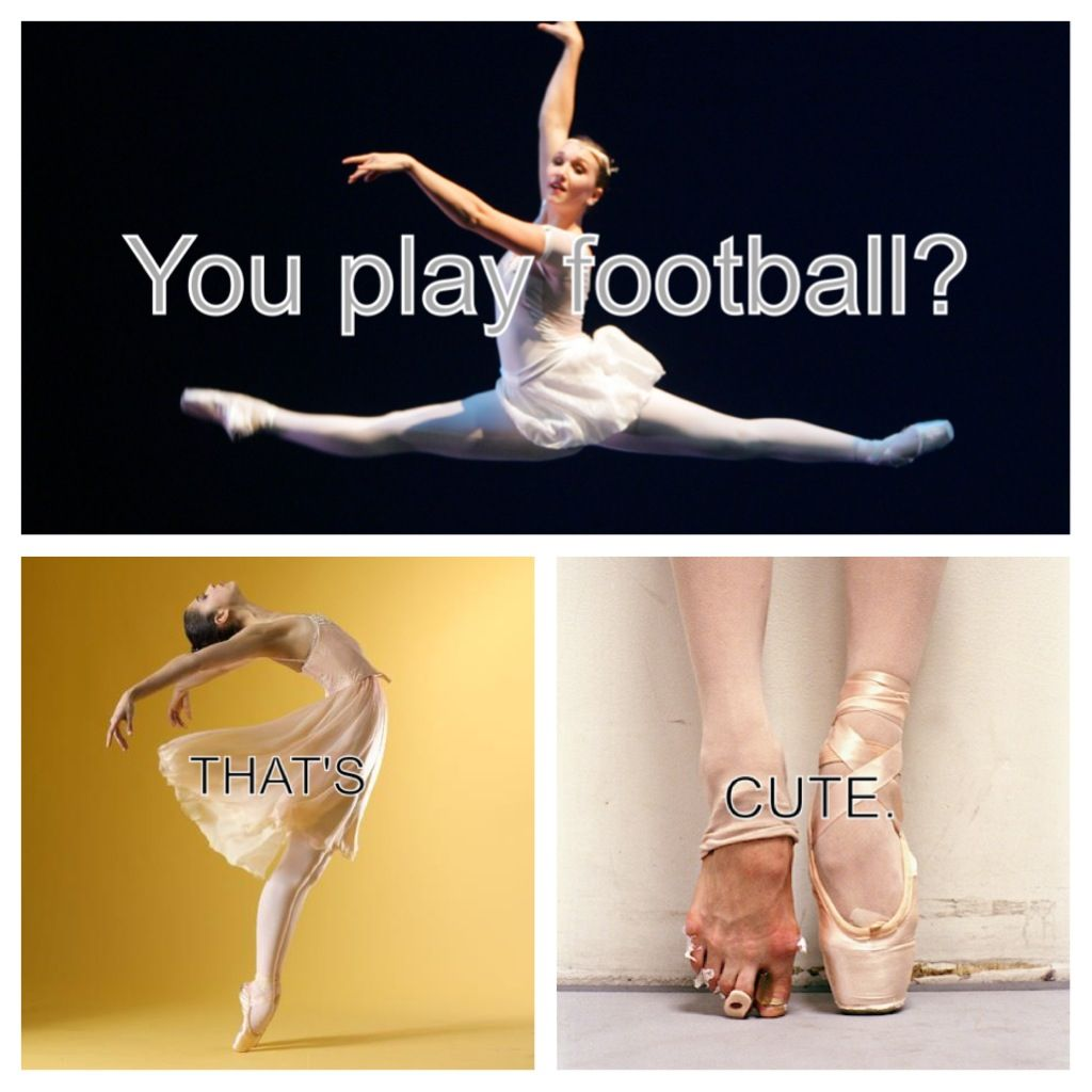Random fyi but football players actually take ballet to