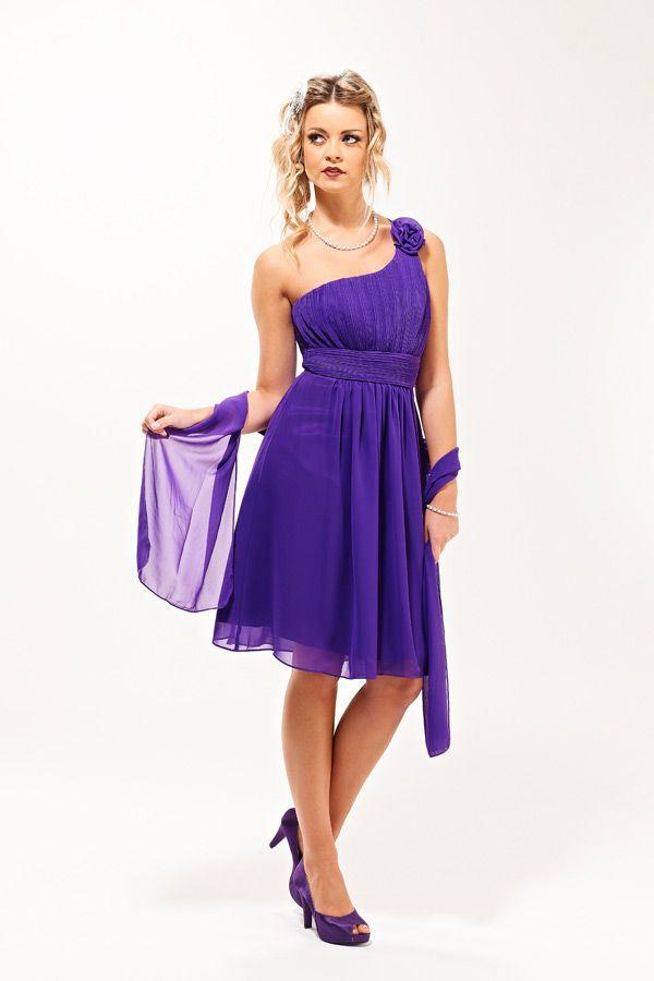 Rose Short Cadburys Purple Bridesmaid Dress - Era Boutique My ...