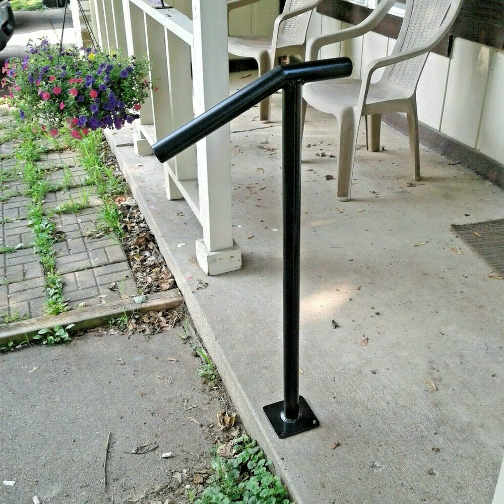 Best New Aluminum Handrail 1 2 Step Grab Rail Porch Decor Black 640 x 480