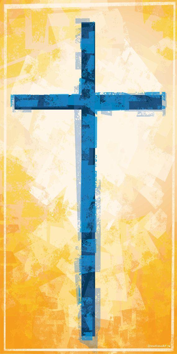 Cross, Christian Banner, Church Banner, Church Art, Golden ...