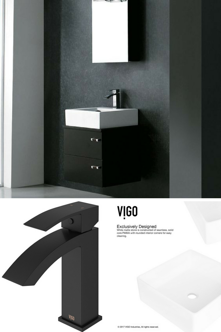 Fall in love with the best modern black and white bathroom! Complete ...