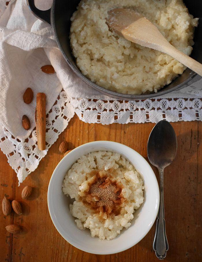 Weihnachts Milchreis Joulupuuro Mahtava Lebensmittel Essen Milchreis Skandinavisches Essen