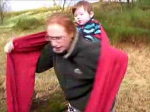 84692a3c1ae Rucksack Carry with long Didymos wrap Babywearing Mama - YouTube ...
