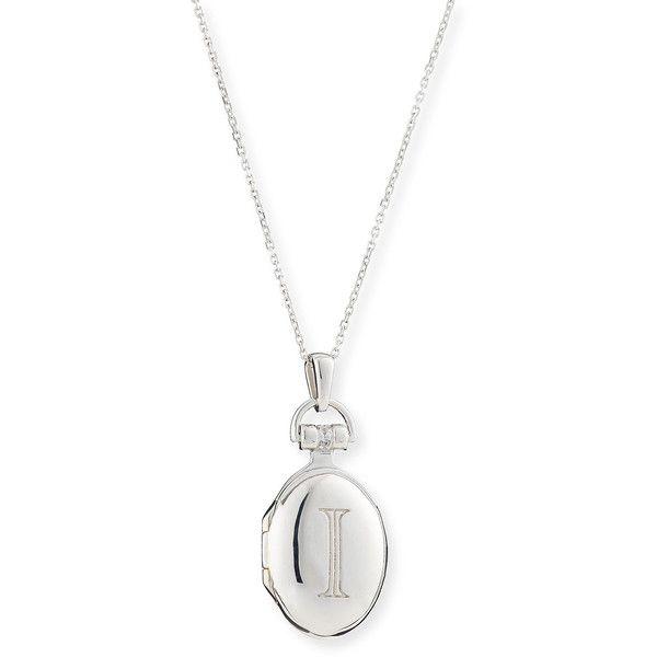 Monica Rich Kosann Petite Sterling Silver Initial Locket Necklace rW5tC2Ij