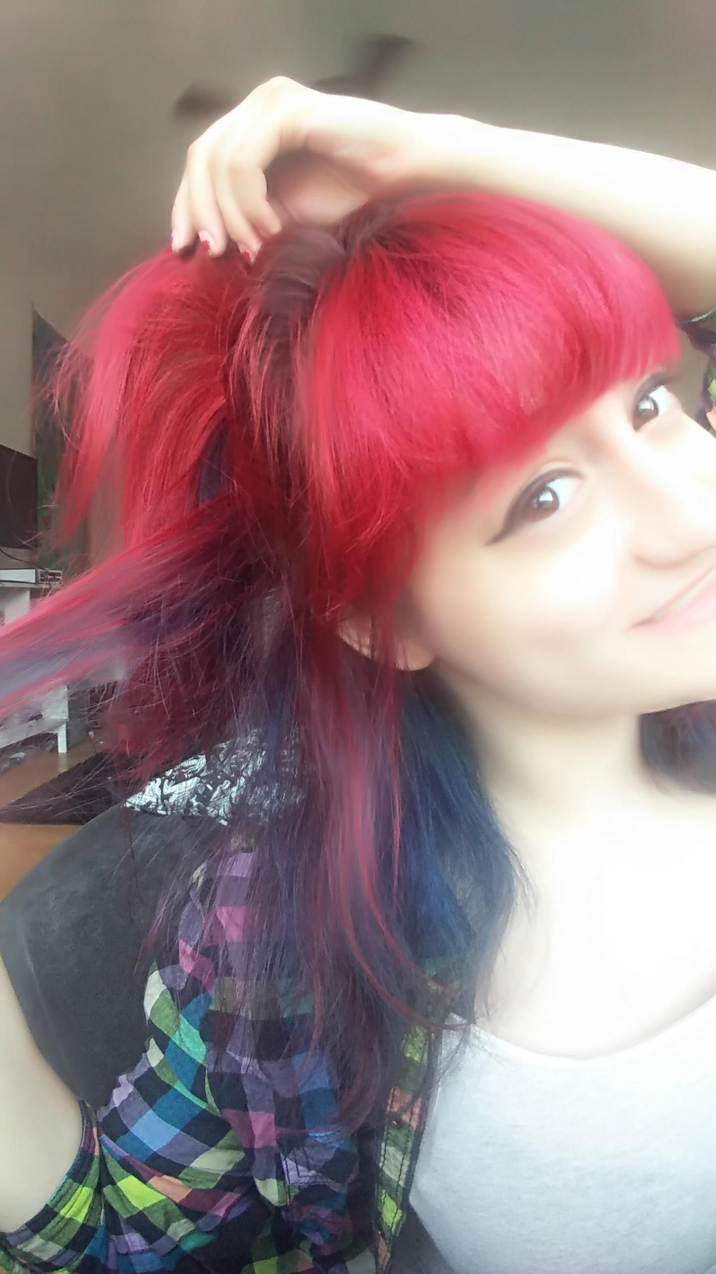 My Hair I Mixed Manic Panic Vampire Red Purple Haze Burgundyhair Purplehair Redhair Dyed Hair Purple Red Purple Hair Red Purple Hair Dye