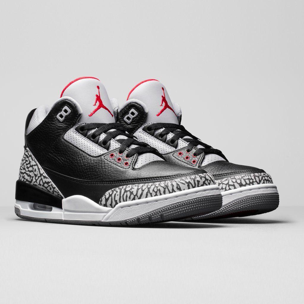Nike Air Jordan 3 Retro Og Black Cement 2018 Jordan Shoes Retro Air Jordans Jordan Shoes