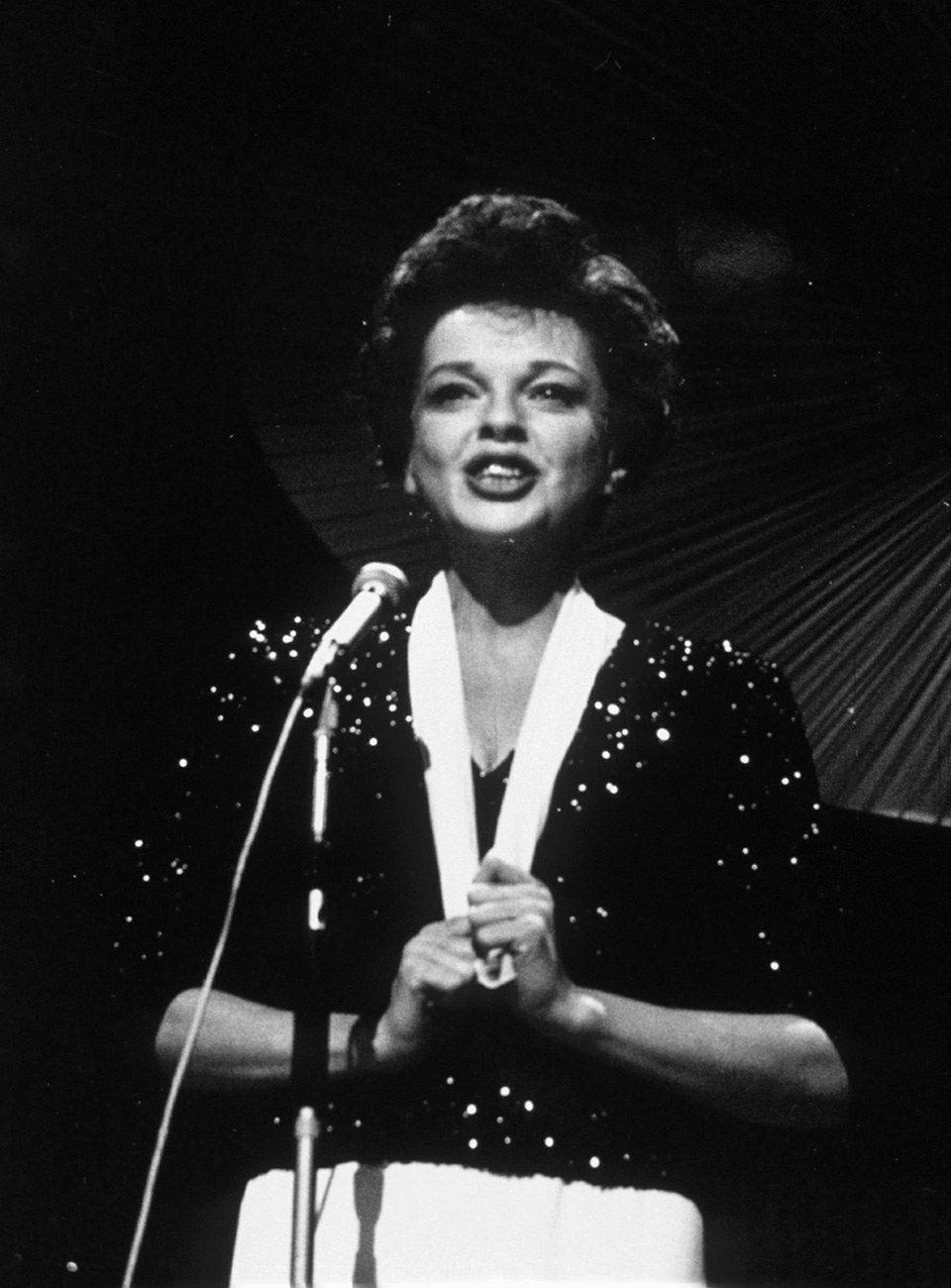 Photos birthday tribute judy garland pinterest this black sequin dinner jacket with a contrasting white shawl collar shows how garland drew the malvernweather Choice Image