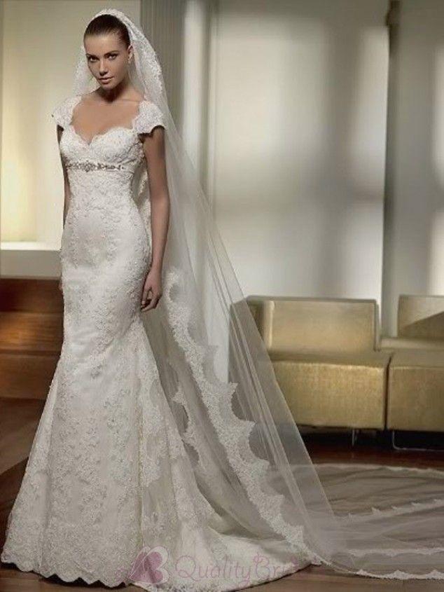 Mermaid wedding dresses cap sleeves – Your wedding photo blog