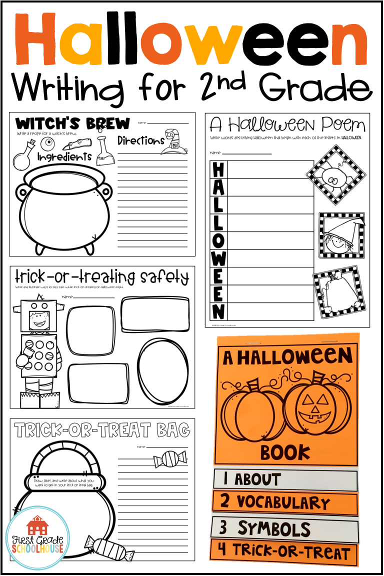 Halloween Writing for Second Grade Halloween worksheets