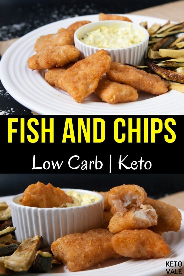 Keto Fish And Chips Recipe Food Recipes No Carb Diets Low Carb Keto