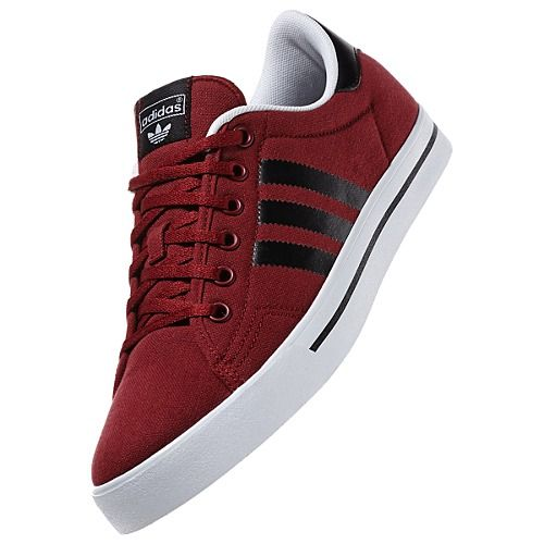 new product f89f3 a557d Adi Court Stripes Shoes in Cardinal and Black  Shoes  Kicks  Adi  Adidas   Stripes  Burgundy  Maroon  Dark  Cardinal  Black