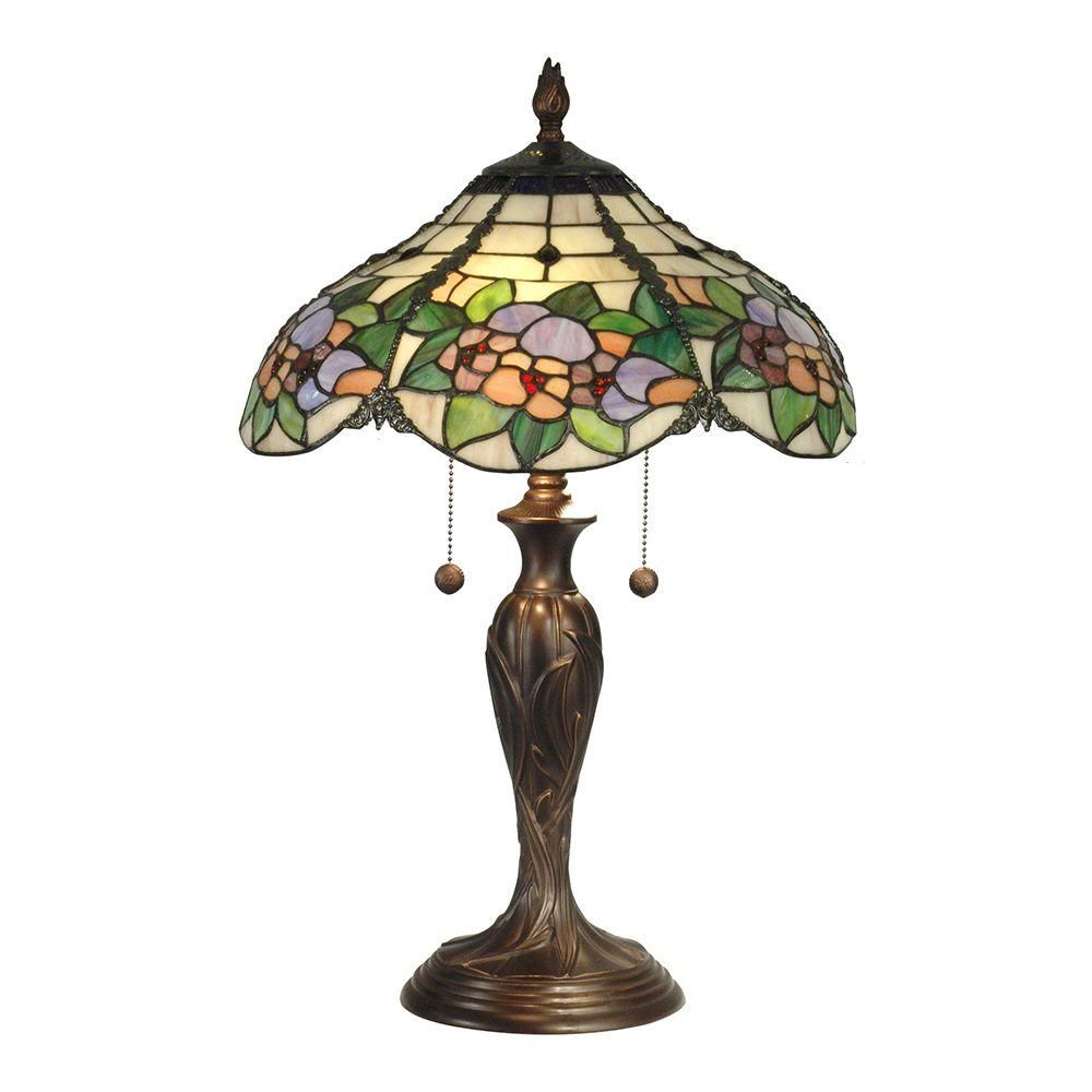 Dale Tiffany 23 In Chicago Antique Bronze Table Lamp Tiffany