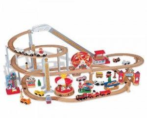 Roller Coaster Park Train Set