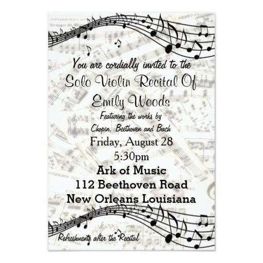 violin school music recital invitation violin recital pinterest