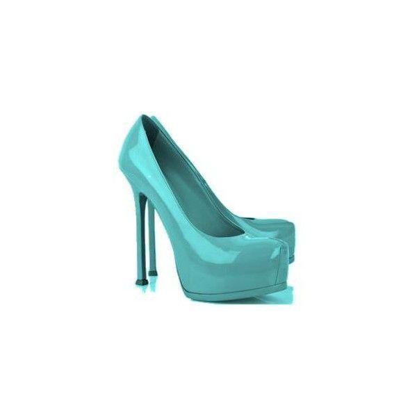 Aqua Blue Patent Leather Heels {Edited}