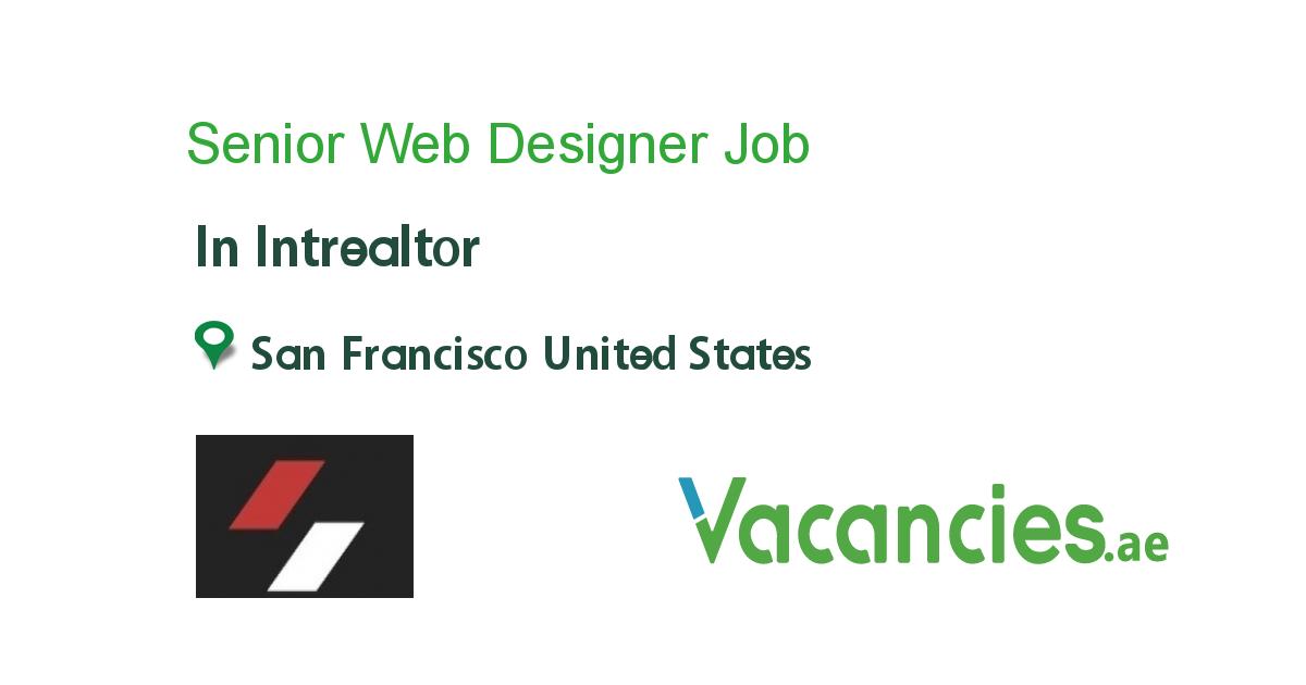 Senior Web Designer In 2020 Web Design Jobs Job Administration