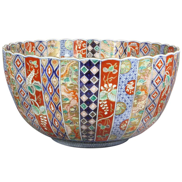 1stdibs - Large Japanese Imari Punch Bowl explore items from 1,700 global dealers at 1stdibs.com