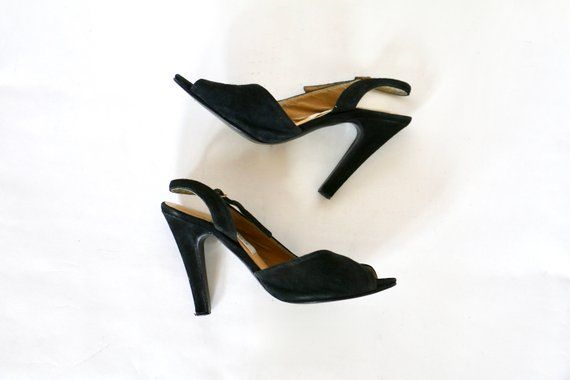 92ce0342d716b Vintage 1970s Shoes High Heels Peep Toe Peeptoe 70s Shoes 1980s ...