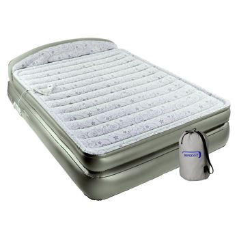 Aerobed 174 18 Queen Air Mattress With Headboard And Flocked