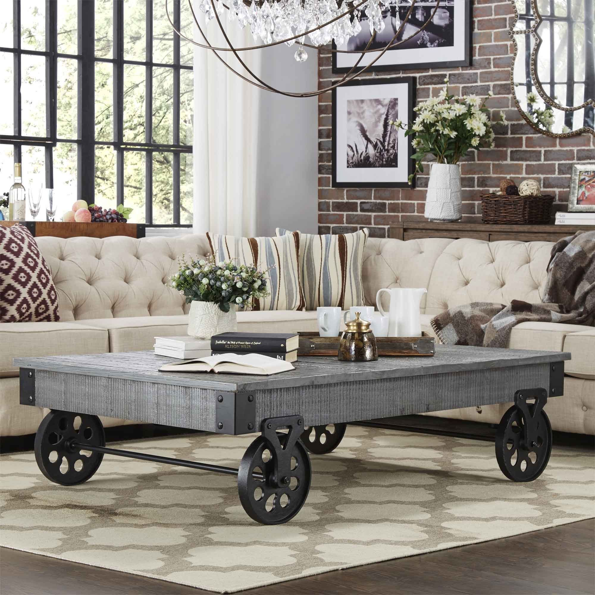 Overstock Com Online Shopping Bedding Furniture Electronics Jewelry Clothing More Rustic Industrial Living Room Industrial Living Room Design Vintage Industrial Decor [ 2000 x 2000 Pixel ]