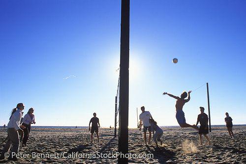 Beach Volleyball Santa Monica Beach California La Beach Volleyball Santa Monica Beach Beach Backdrop