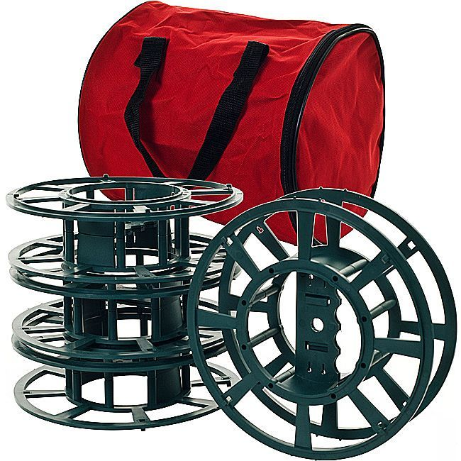 Trademark Extension Cord or Christmas Light Reels with Bag (Set of 4 ...