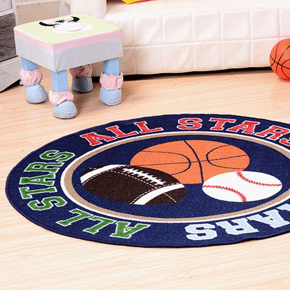 Maxyoyo Diameter 39 Inch Round Basketball Baseball Pattern