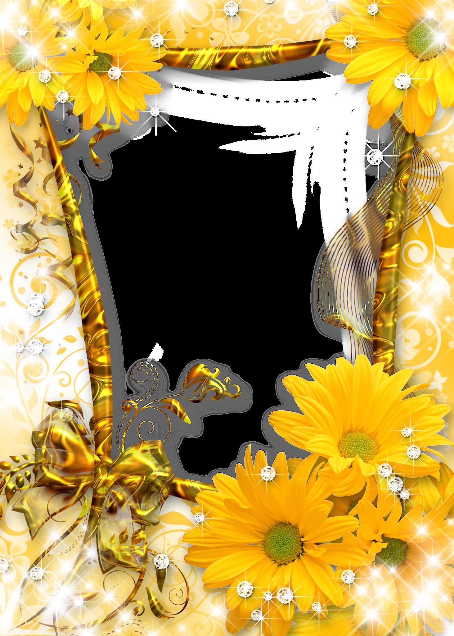 Sunflower frame clipart Sunflower frame png Sunflower