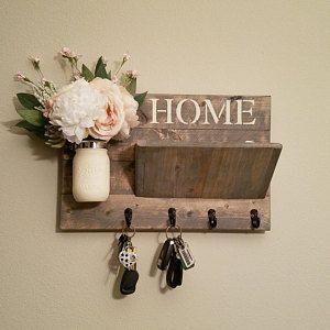 Photo of Rustic home decor, mason jar wall lamp, candle holder, candle, rustic la …