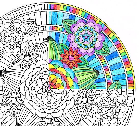 #Flowers of #Love, a #mandala #coloringpage #foradults from the #FlowerMandalas #coloringbook by #CandyHippie