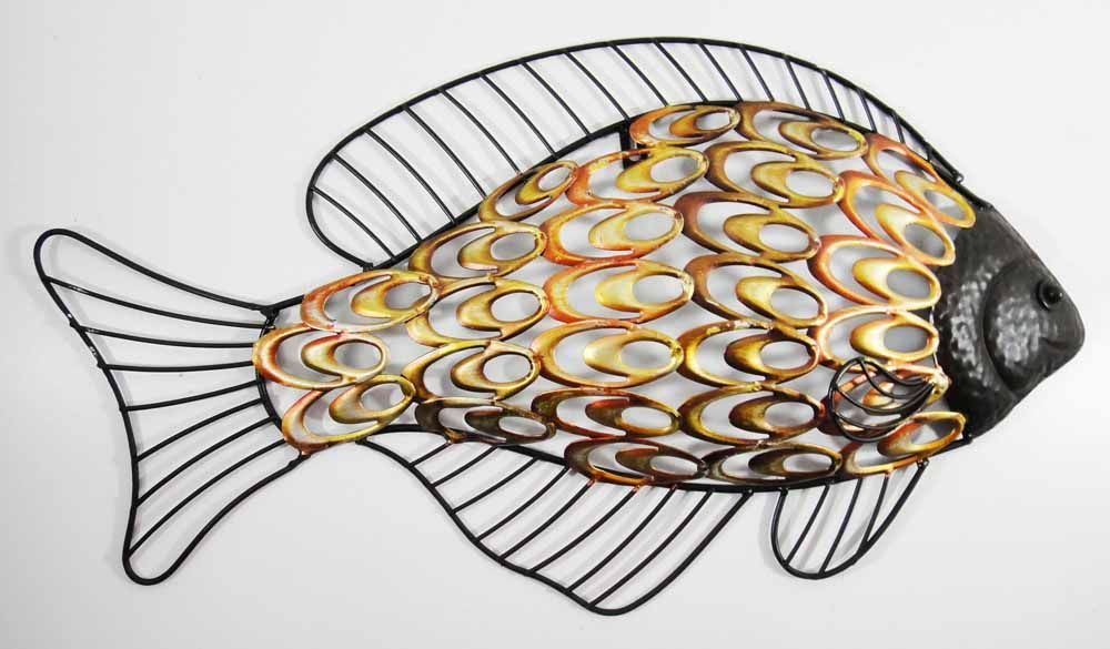 Metal wall art rustic fish metal art pinterest for Fish metal wall art