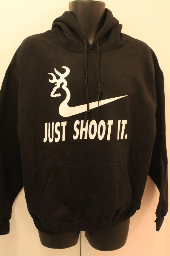 Just Shoot It Deer Hunting Humor Joke Hoodie_Black (FREE SHIPPING ...