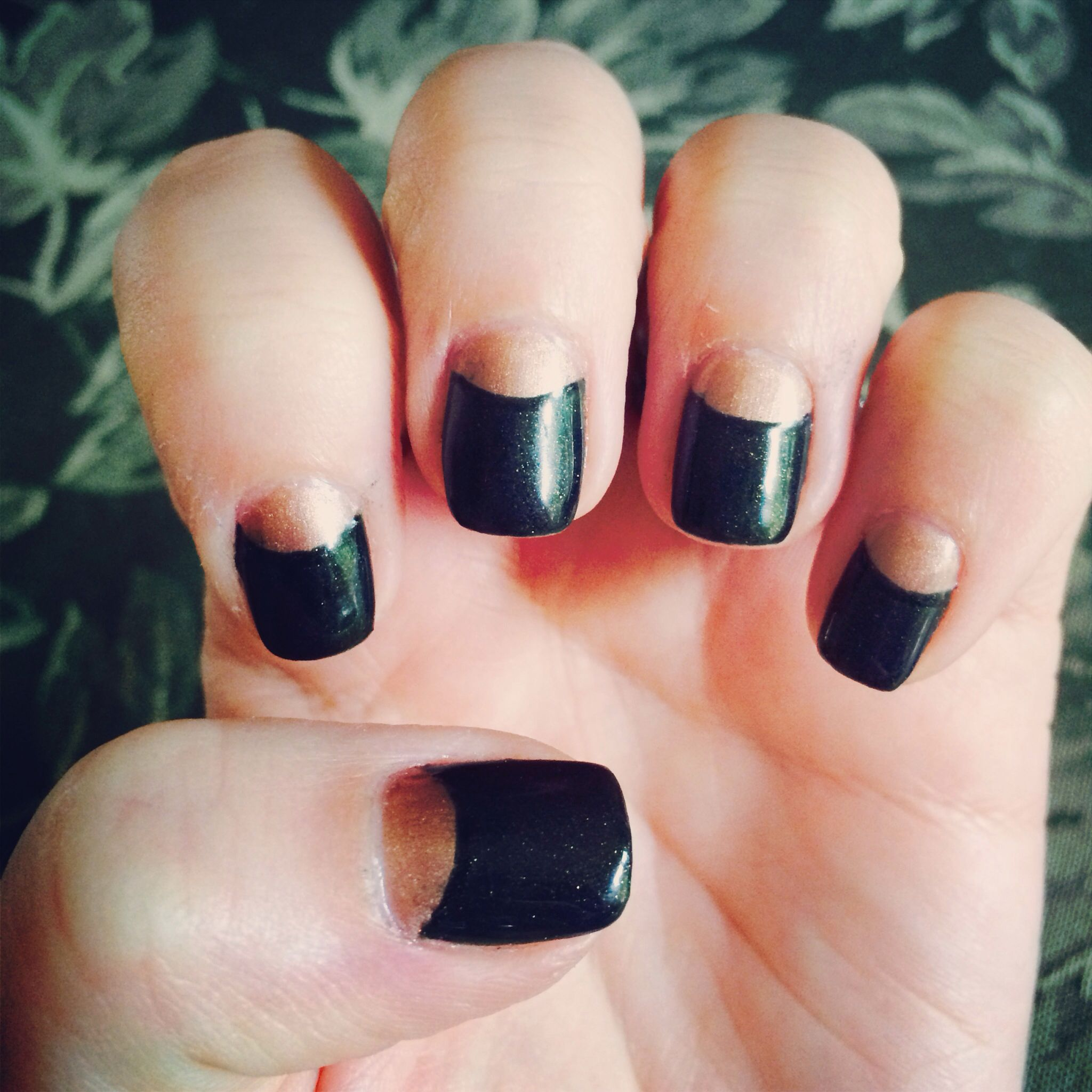 Reverse French nail art | Nails | Pinterest | Nail art, Reverse ...