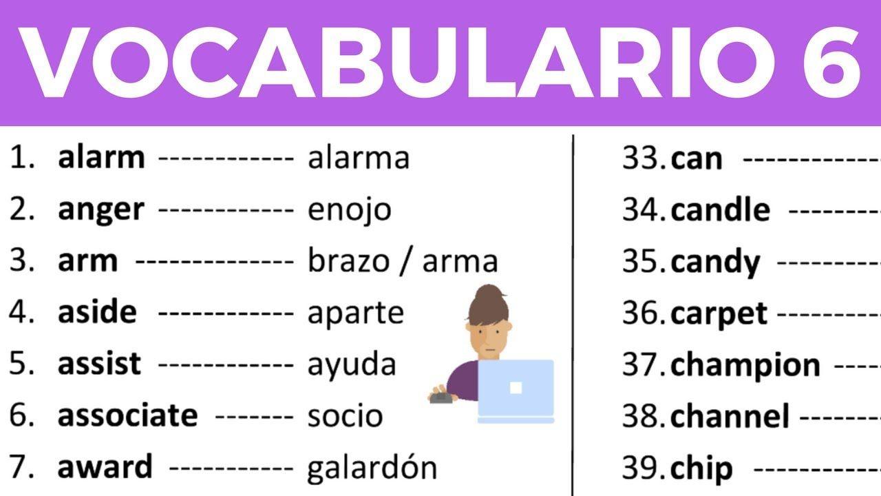 Vocabulario En Ingles Con Pronunciacion Leccion 6 De 8 200