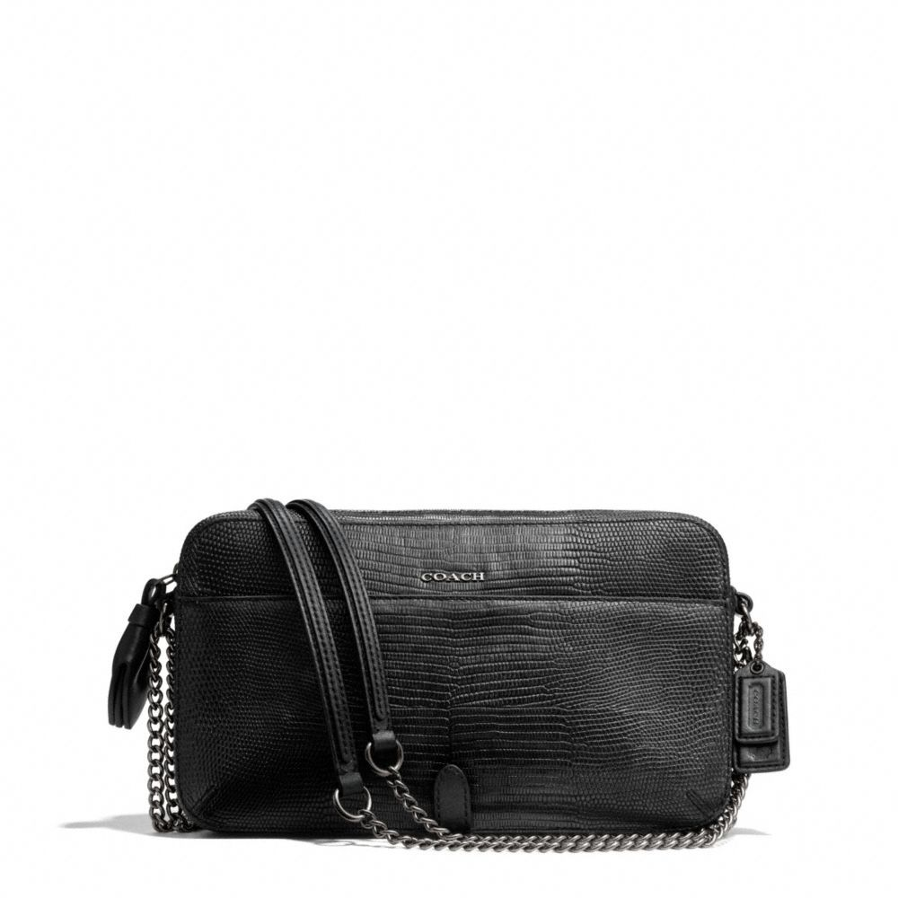 The Poppy Flight Bag In Python Embossed Leather From Coach