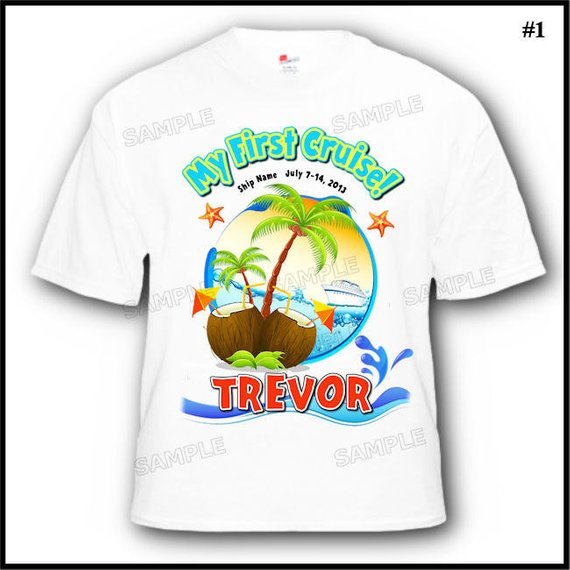 Personalized Tropical My First Cruise Vacation TShirt