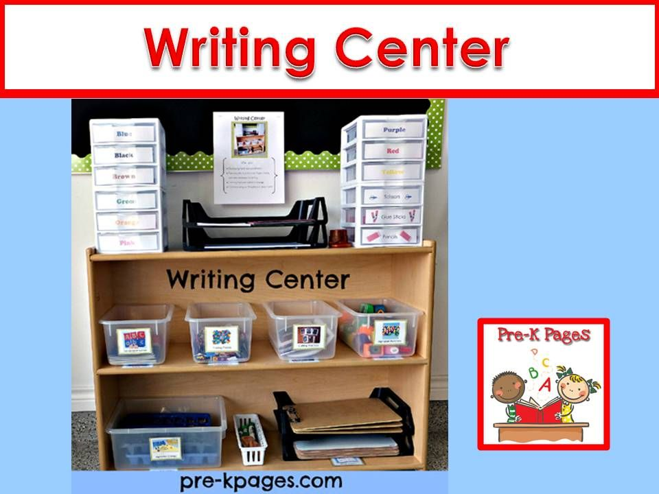 Writing Center | Classroom, Preschool and Love this