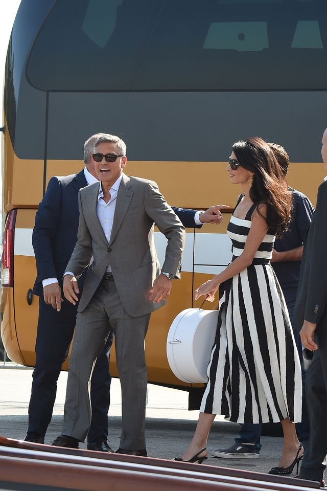 Amal Alamuddin's Venice Wedding Weekend Wardrobe: The Arrival