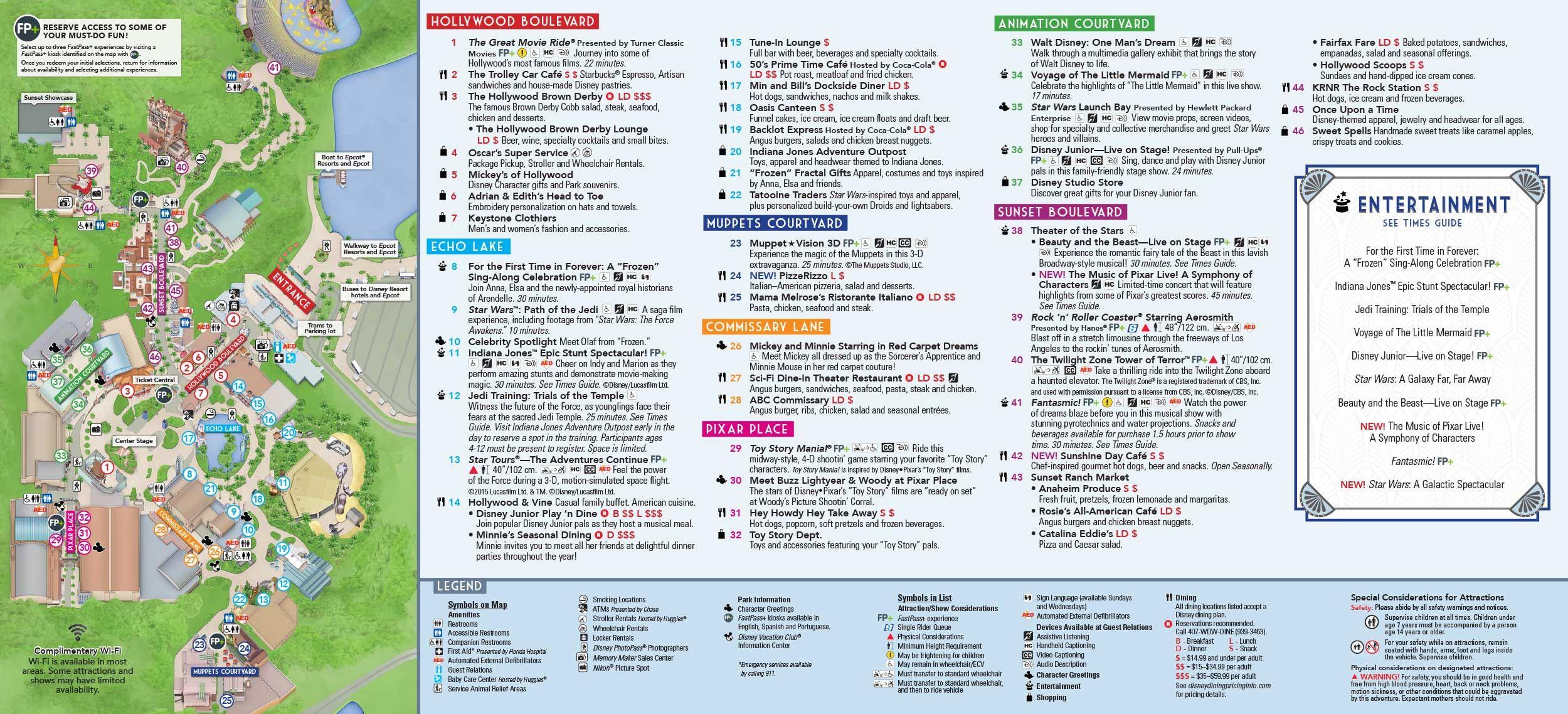 Disney Hollywood Studios map | disney | Hollywood studios, Hollywood ...