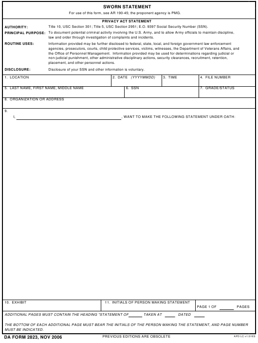 How To Correctly Fill Out A Daform 2823 Where To Find And Download Latest Fillable Dafor Statement Template Budgeting Worksheets Free Balance Sheet Template