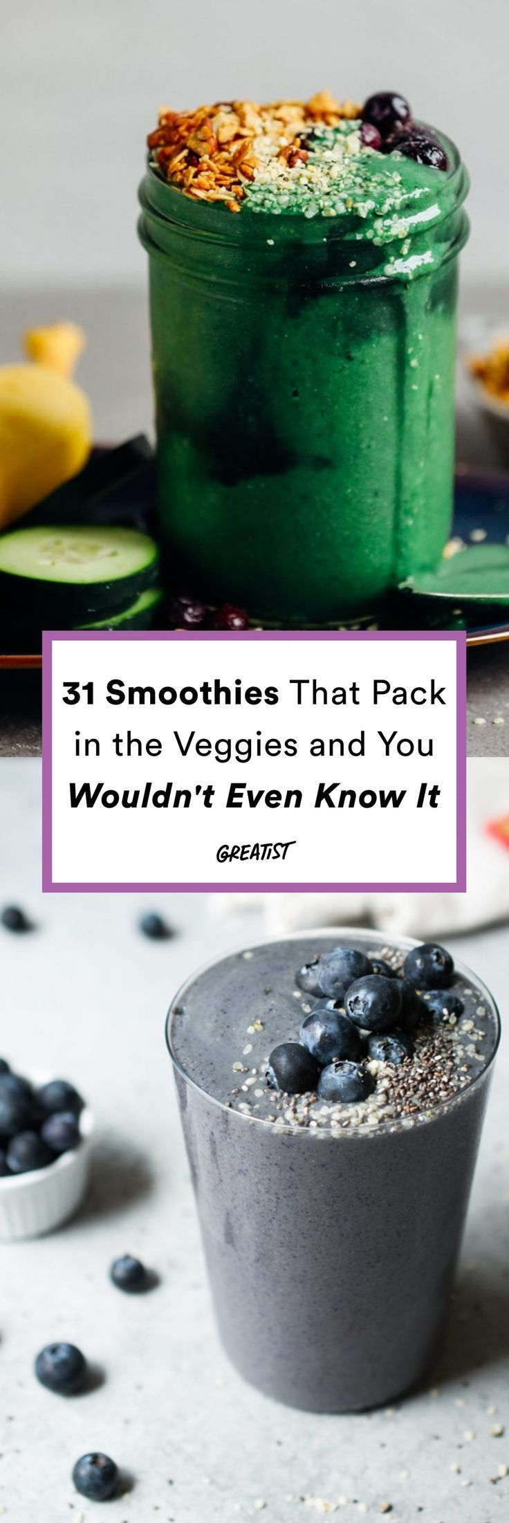 31 Smoothies That Pack in the Veggies (Not That You Can Tell)